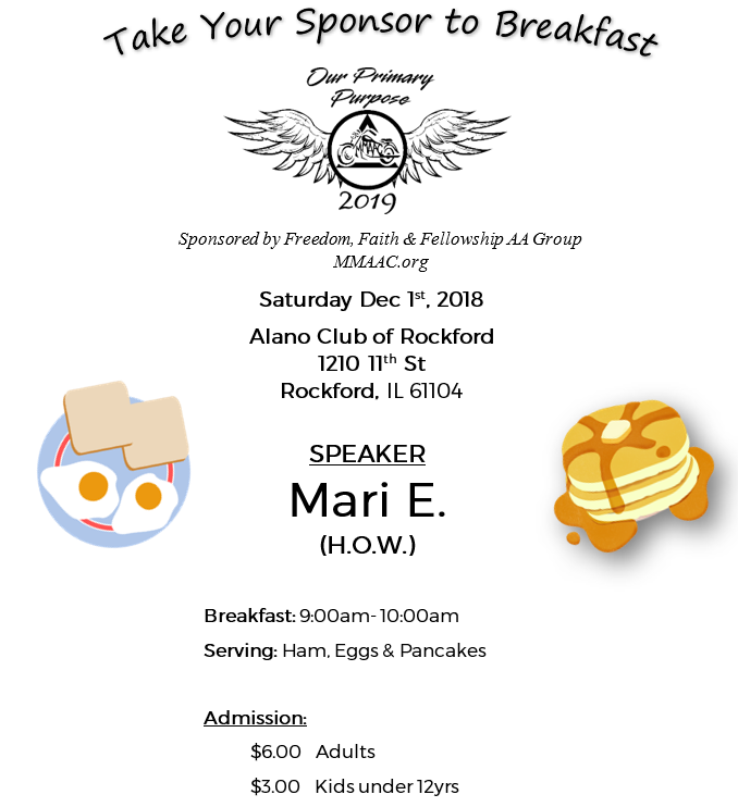 breakfast with sponsor dec 2018